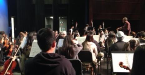 Mr. Morgan worked with DV Orchestra students on 12/3/14.